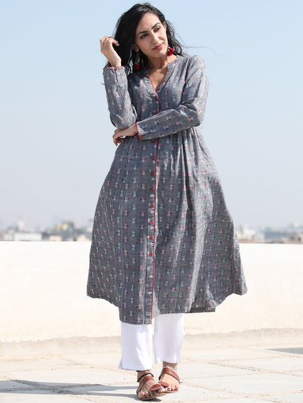 Tagai Iliana - Set of Front Open Ikat Kurta & Pants  - kS118662