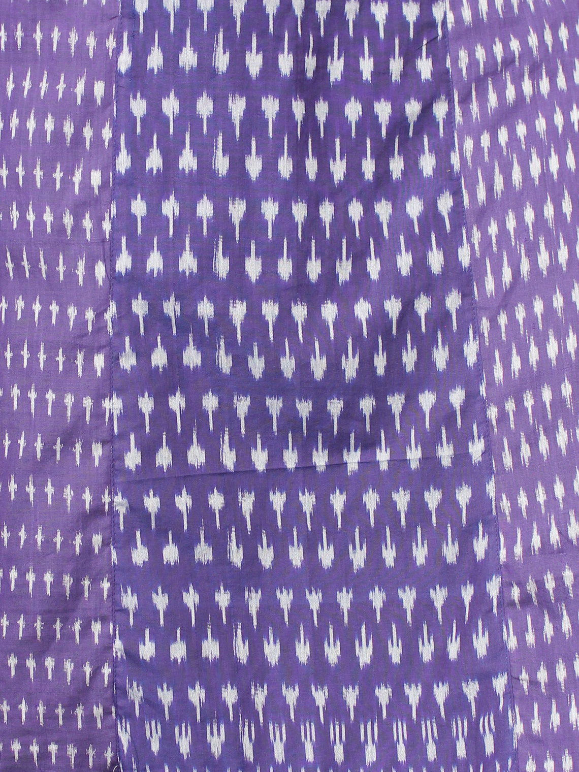 Purple Grey Hand Woven Ikat Sequence Work Kurta & Palazzo (Set of 2) - SS01F1439