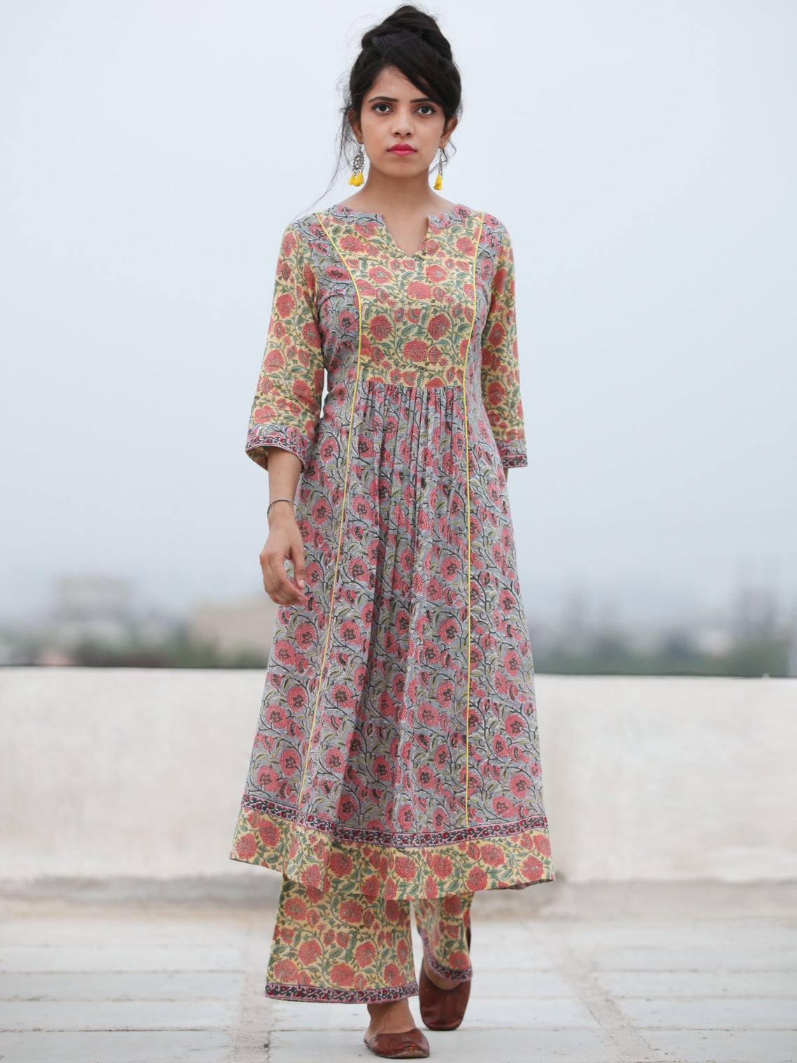 Rozana Afrah - Set of Anarkali Kurta Palazzo & Dupatta - KS137A2479D