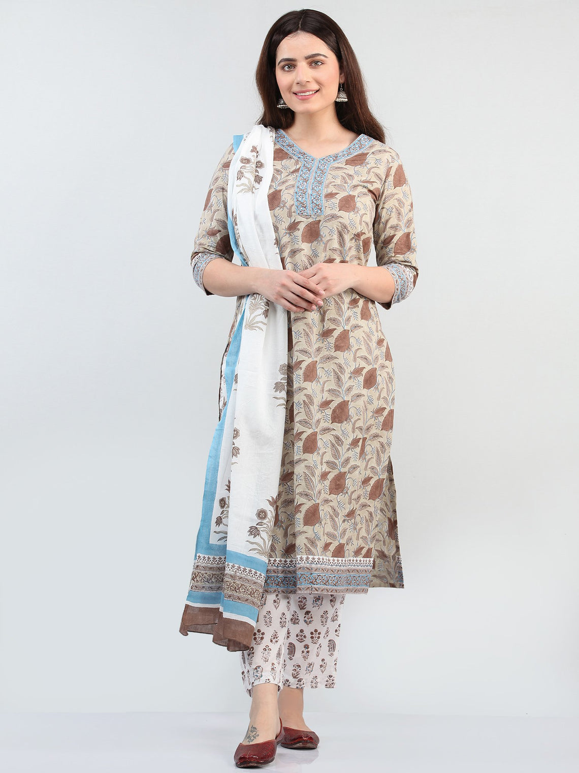 Zohra Sufia - Set of Kurta Pants & Dupatta - KS12A2501D