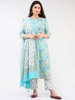 Zohra Gulbagh - Set of Kurta Pants & Dupatta - KS14B2502D