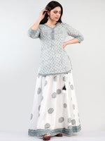 Zohra Aadhina - Set of Top Skirt & Dupatta - KS43D2504D