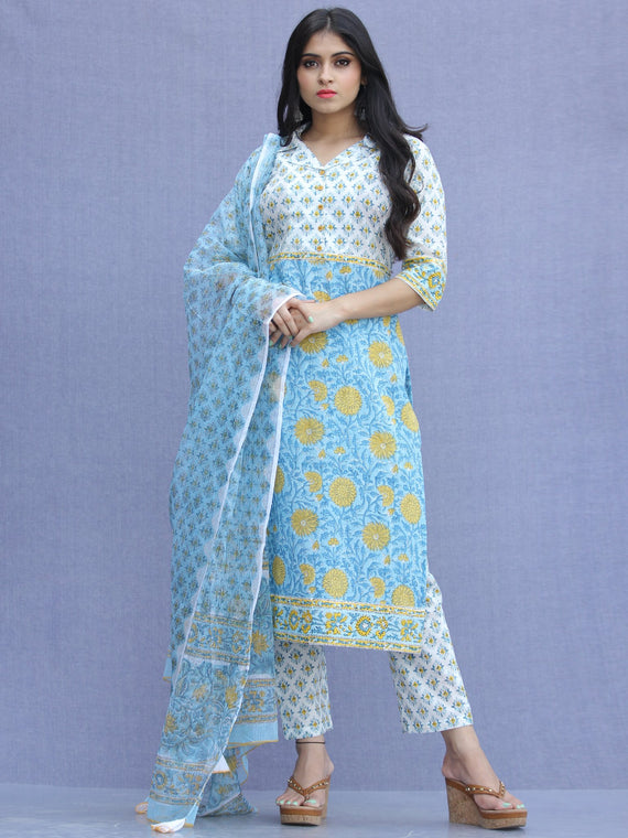 Jashn Zahra - Set of Kurta Pants & Dupatta - KS71A2311D