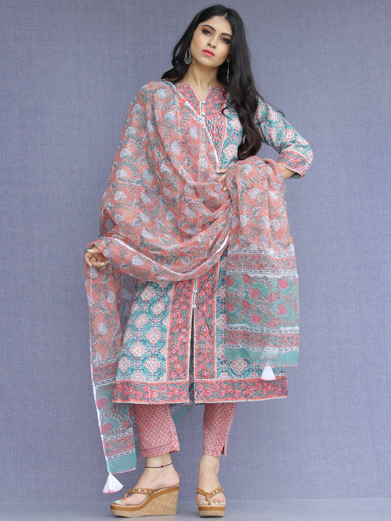 Jashn Ziba - Set of Kurta Pants & Dupatta - KS53B2267D