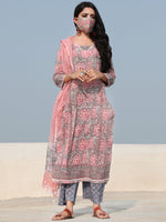 Rozana Beena - Set of Kurta Pants & Dupatta - KS60P2489D