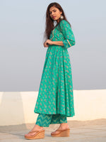 Raas Naazeen - Set of Flared Kurta & Pants  - KS84C2385
