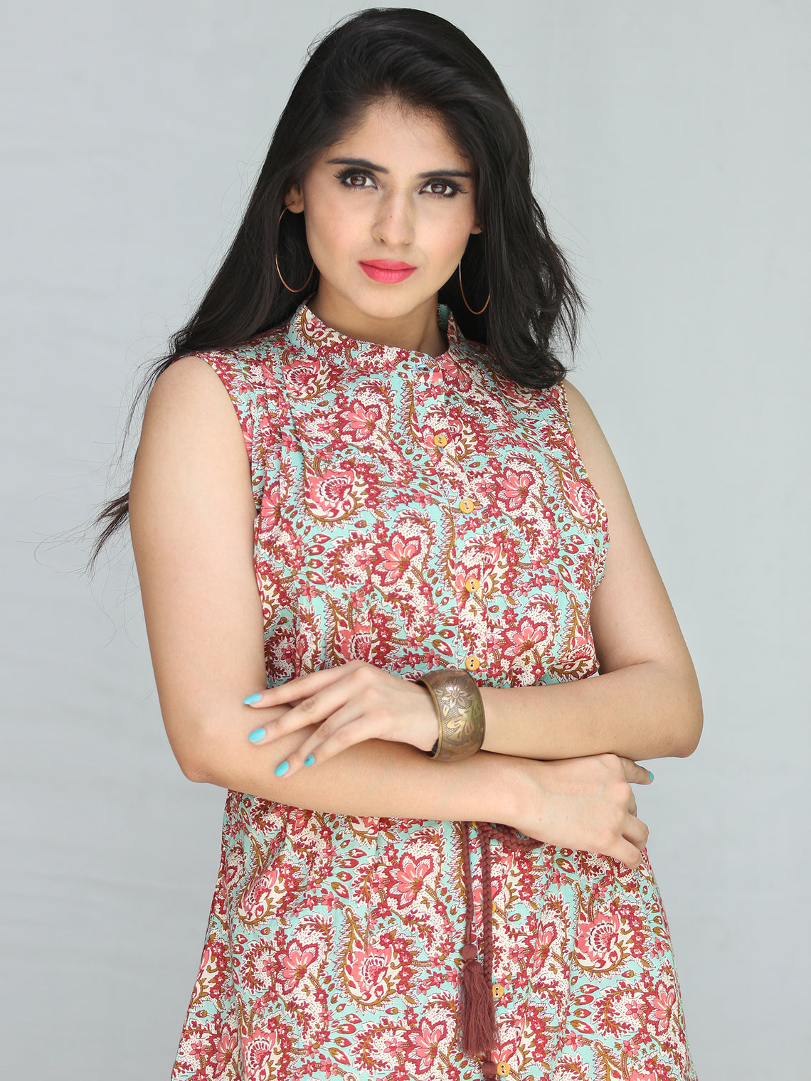 Gulzar Mehr Dress With Tie Up Waist - D89F2248