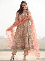 Jashn Falak - Set of Anarkali Kurta Pants & Dupatta - KS25E2387D