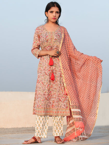 Rozana Gul - Set of Kurta Pants & Dupatta - KS143A2484D