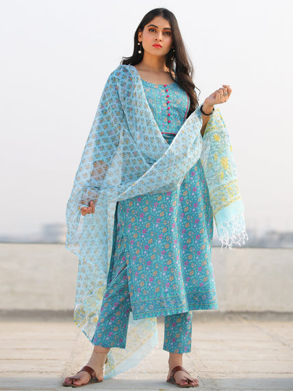Jashn Asmani - Set of Kurta Pants & Dupatta - KS60H2376D