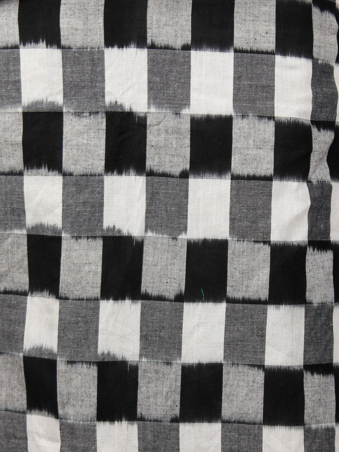 Black White Grey Double Ikat Handwoven Dress With Kimono Sleeves And Side Pockets -  D236F928