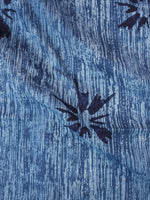Indigo Blue Natural Dyed Hand Block Printed Cotton Fabric Per Meter - F0916317