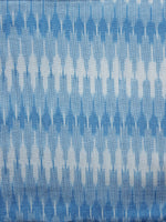 Sky Blue Ivory Pochampally Hand Woven Ikat Fabric Per Meter - F002F962