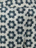 Indigo White Hand Block Printed Semi Elasticated Waist Cotton Sharara - Sh04F771