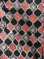 Black Pink Silver Hand Block Printed Semi Elasticated Waist Cotton Sharara  - Sh10F897
