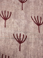Beige Maroon Natural Dyed Hand Block Printed Cotton Fabric Per Meter - F0916303
