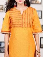 Yellow Orange South Handloom Cotton Kurta   - K146FXXX