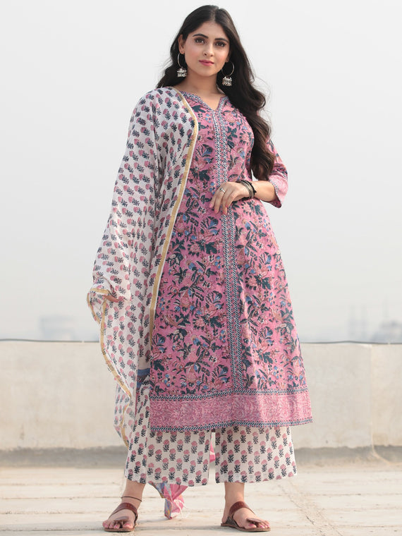 Jashn Nargish - Set of Kurta Pants & Dupatta - KS53C2360D