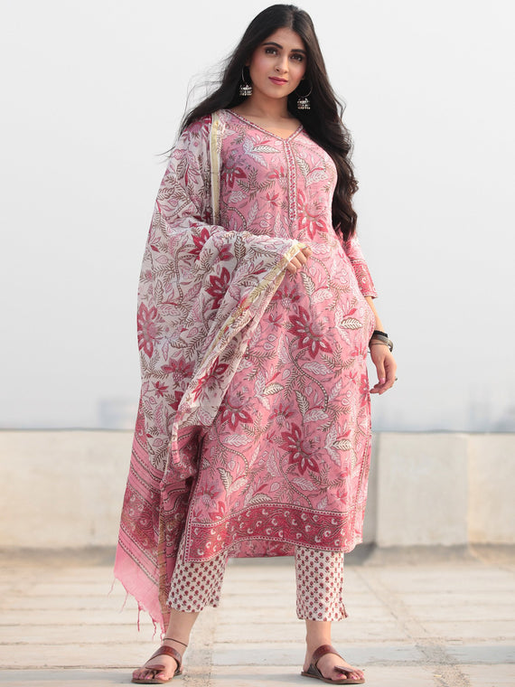 Jashn Gulpari - Set of Kurta Pants & Dupatta - KS53DYYYD