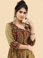 Naaz Faazila - Hand Block Printed Long Cotton Embroidered Dress - DS91F001