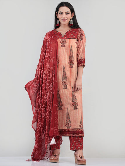 Bahaar Rada - Set of Kurta Pants & Dupatta - KS60L1078D