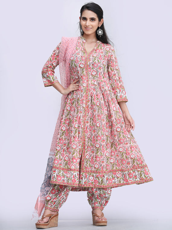 Rozana Abeeha - Set of Kurta Pants & Dupatta - KS162A2491D