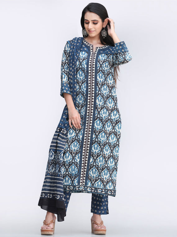 Bahaar Saba - Set of Kurta Pants & Dupatta - KS53E2451D