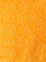 Sun light Yellow Off White Georgette Hand Block Printed Dupatta  - D04170703