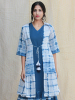 Liba - Hand Shibori Dyed Cotton Dress Set Of 2  - DS81F001