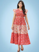 Stylo Tiers  - Block Printed Cotton Tiered Dress  - D365F1991