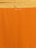 Banarasee Chiffon Saree With Golden Zari Weave  - Rust Orange & Gold - S031704401