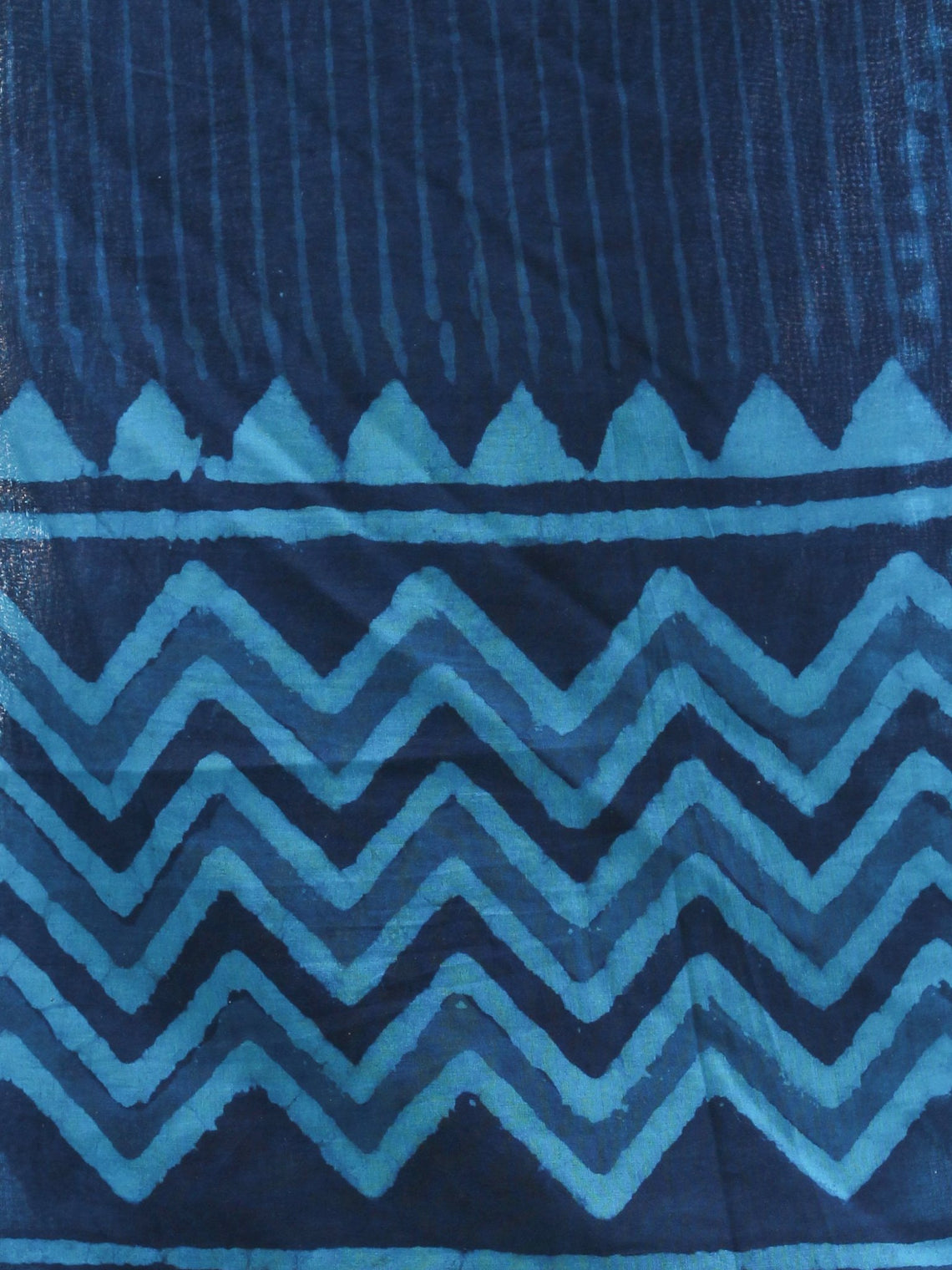 Indigo Sky Blue Cotton Hand Block Printed Dupatta - D04170425