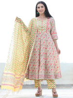 Jashn Najia - Set of AnarKali Kurta Pants & Dupatta - KS57E2497D