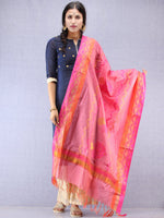 Banarasi Chanderi Dupatta With Resham Work - Pink & Gold - D04170833