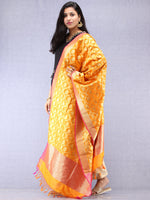 Banarasi Kanni Silk Dupatta With Zari Work - Yellow Red & Gold - D04170873