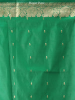 Banarasee Art Silk Saree With Zari Work - Red Green Gold- S031704362