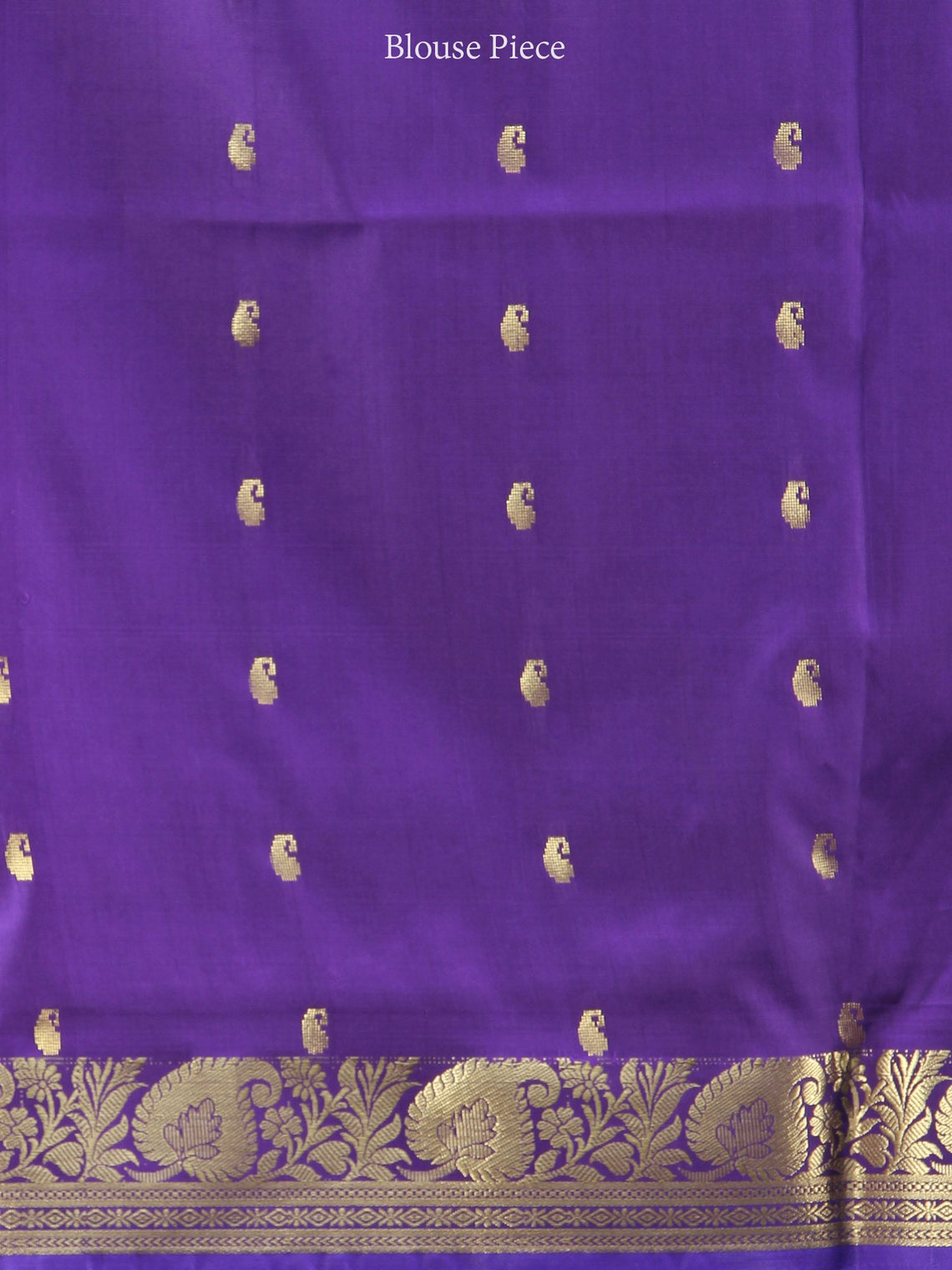 Banarasee Art Silk Saree With Zari Work - Green Purple & Gold - S031704407