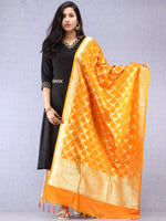 Banarasi Kanni Silk Dupatta With Zari Work - Mustard Yellow & Gold - D04170879