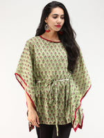 Rangrez Gul - Kaftan Cotton Top - T72F2233