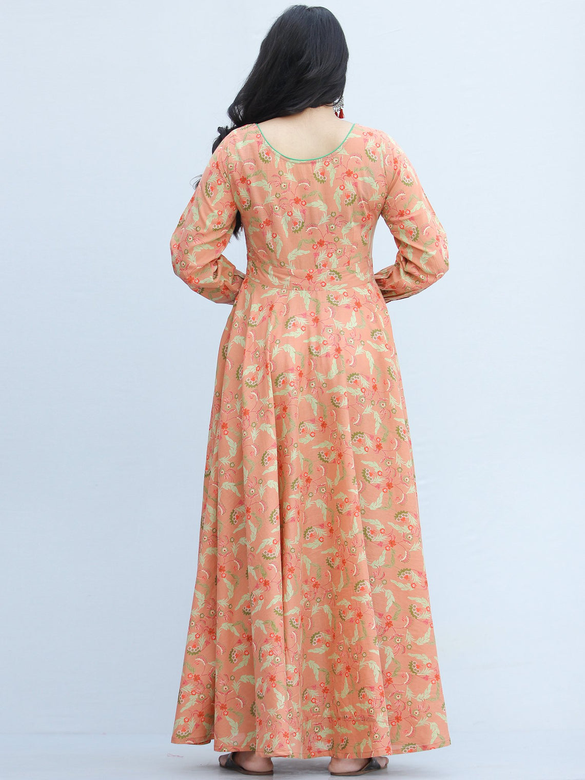 Gulzar Shanza- Urave Cut Flared Long Cotton Dress  - D459F2292