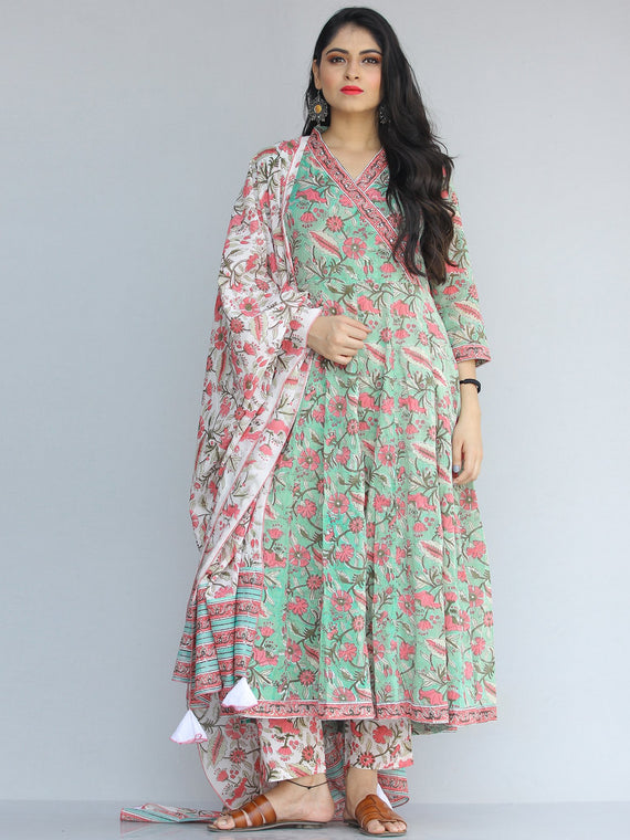 Jashn Pakiza - Set of Kurta Pants & Dupatta - KS13A2187D