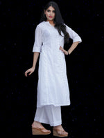 Chandni Hafa - Cotton Dobby Straight Kurta - KS38KFP03
