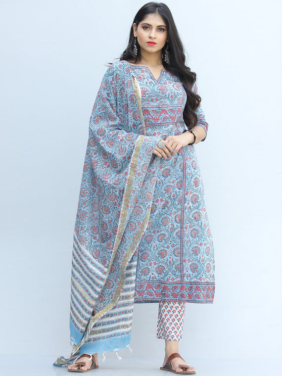Jashn Nazima - Set of Kurta Pants & Dupatta - KS66A2343D