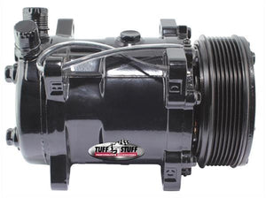 Tuff Stuff Performance Sanden SD508 A/C Compressor - Side/Top Exit (Black Powdercoated)