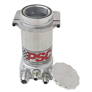 "8.25"" Pro Touring P.S. Remote Reservoir w/ Filter For Hydro Boost Brakes Brushed Aluminum"