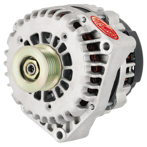Powermaster High-Amp Alternator - 220AMP - 2 Pin Natural Finish
