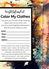 Color My Clothes by brightlytwisted