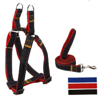Petguider Jean Dog Harness Lead Pet Walking Leash Adjustable Chest, S -L