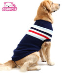 Cute Strip Pet Dog Cat Crochet Knit Sweater