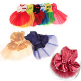 Multi-Choice Dress Tutu Lace Cat Clothes and Small Girl Dogs